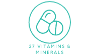 27 vitamins and minerals