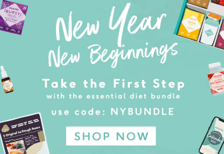 New Year New Beginnings 'Take the first step with the essential diet bundle' use code: NYBUNDLE