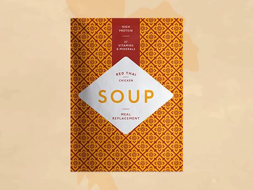 Red thai chicken soup