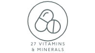 27 vitamins and minerals}