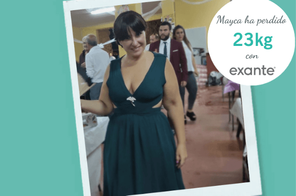 Imagen transformación Mayca, ha perdido 23kg con Exante