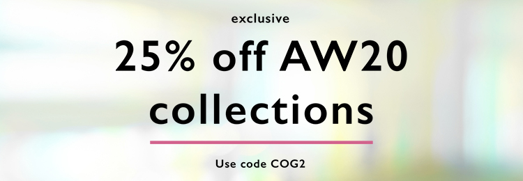25% off AW20 collections | Use code COG2
