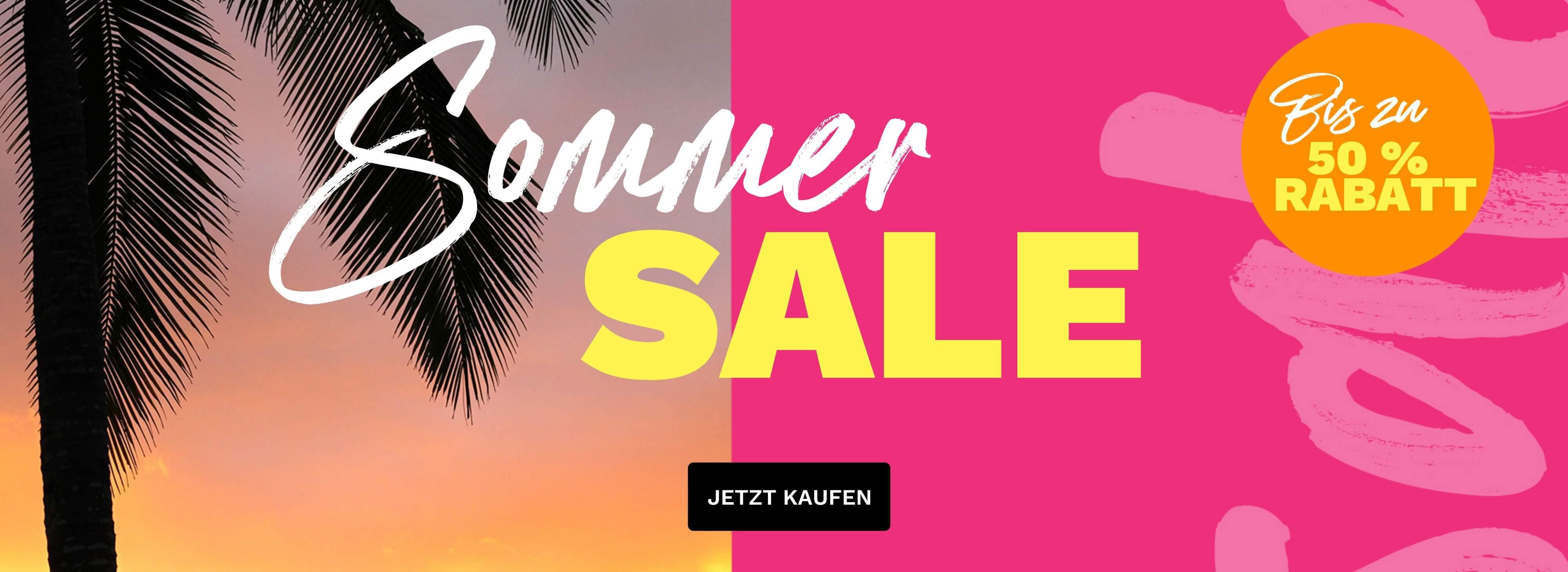Sommer Sale bis zu 50 % Rabatt