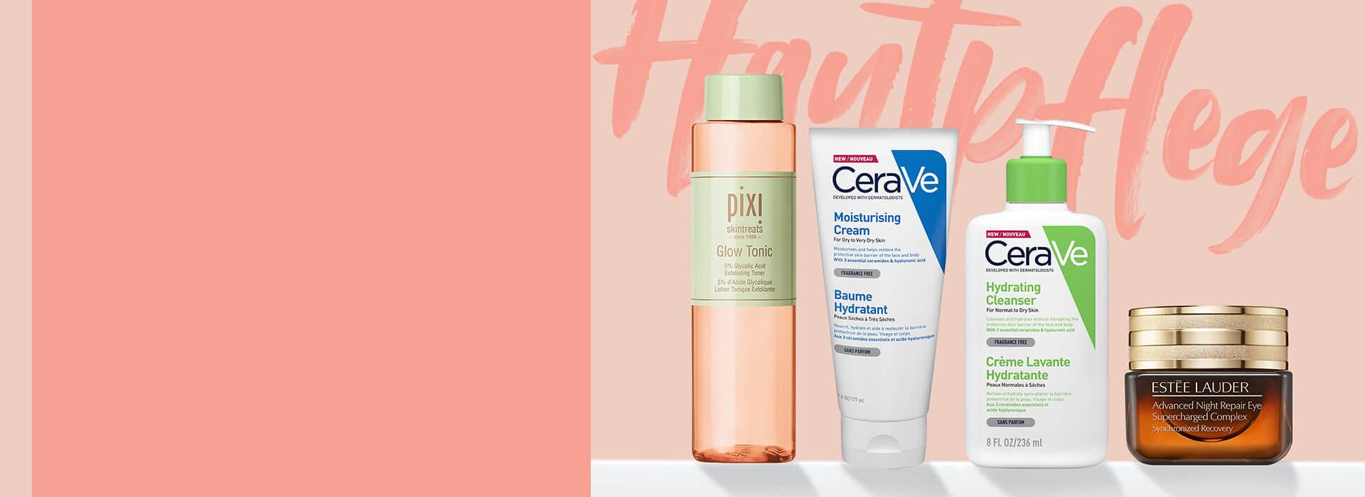 Entdecke deine neue Hautpflegeroutine mit unseren tollen Hautpflegemarken. Unter anderem mit <b>The Ordinary, Pixi</b> und <b>CeraVe</b>.