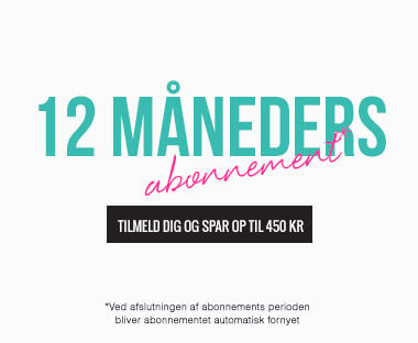 tekst: 12 måneders abonnement for Beauty Box