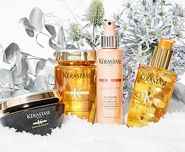 Kérastase produkter i sneen
