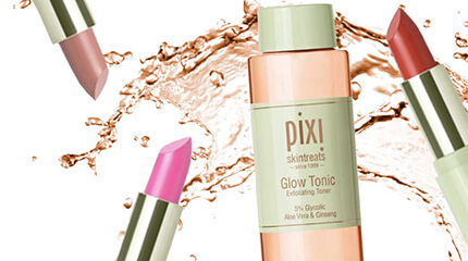 Pixi glow tonic og læbestifter