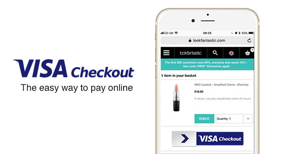 Using Visa Checkout on lookfantastic
