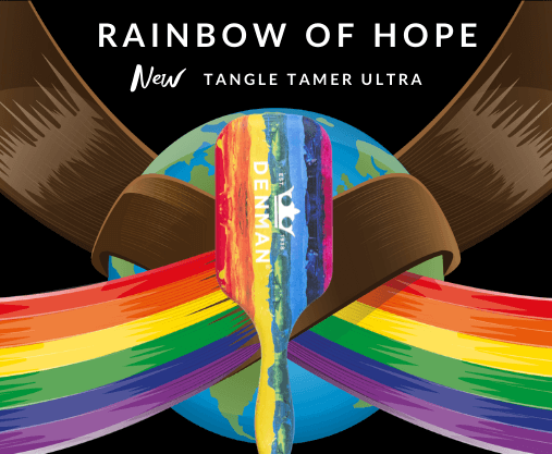 Denman are a haircare brand proud to be donating £1 from every Rainbow of Hope D90L Tangle Tamer Ultra to the COVID-Solidarity Response Fund.