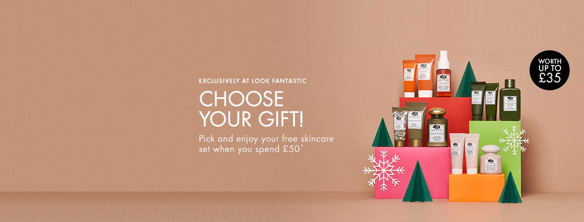 Origins gift with purchase worth up to £35!
