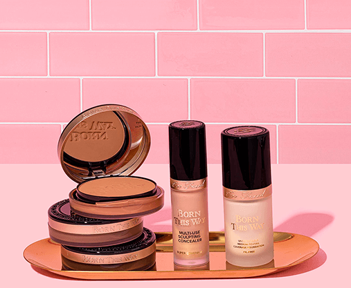 Too Faced foundation, concealer and bronzer
