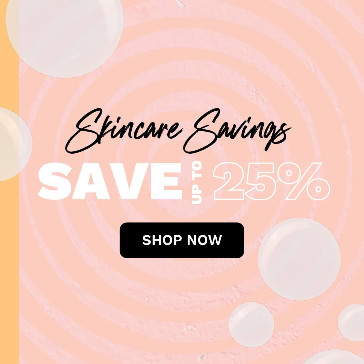 Up to 25% off skincare