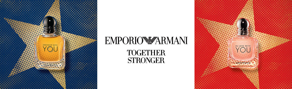 Emporio Armani stronger with you scent.