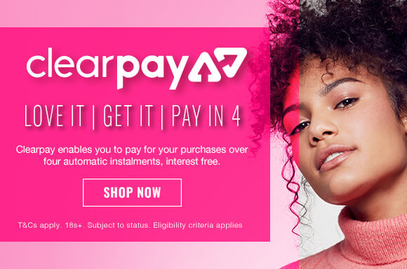 Can't wait until payday? Thanks to Clearpay, you don't have to! Shop your favourite beauty trends today and pay later in 4 interest free payments.