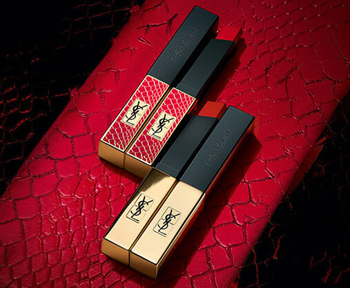 Dress your lips in Luxury with the Yves Saint Laurent Rouge Pur Couture the Slim lipstick, exclusive to lookfantastic.