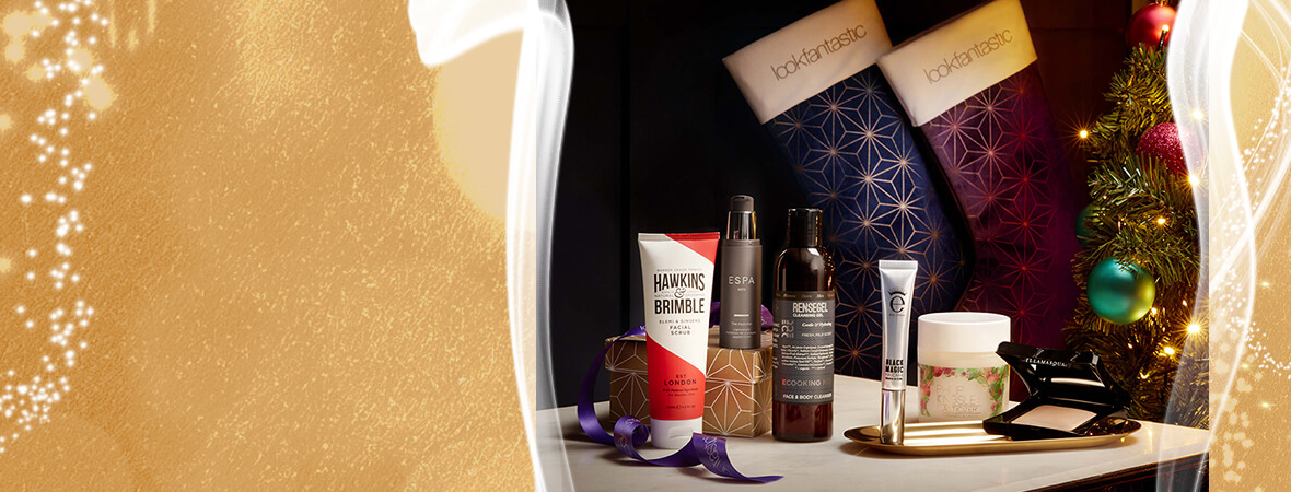 Give the gift of beauty this Christmas and experience a touch of luxury with 5 full-size beauty treats with lookfantastic stockings. For him or for her.