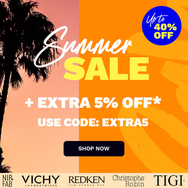 Up to 40% off: Summer Sale + extra 5% off* - USE CODE EXTRA5, shop now