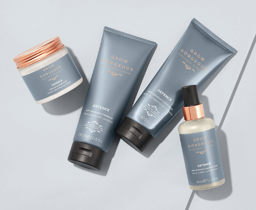 Shield your strands with the new Grow Gorgeous Defence Collection, plus receive a complimentary Repair Strengthening mini mask when you spend £50
