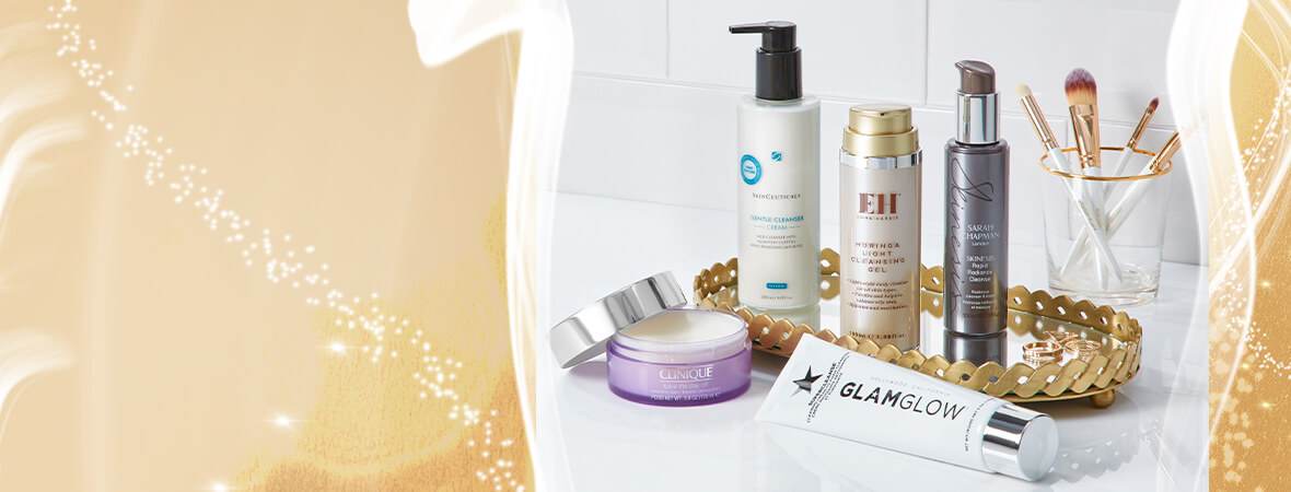 Who says the fun has to end? Our radiance-boosting cleansers are like a party for your skin.