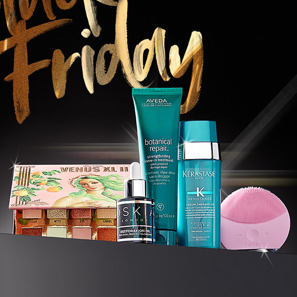 black friday 2020 brands Urban Decay, kerastase, OSKIA, Aveda and foreo