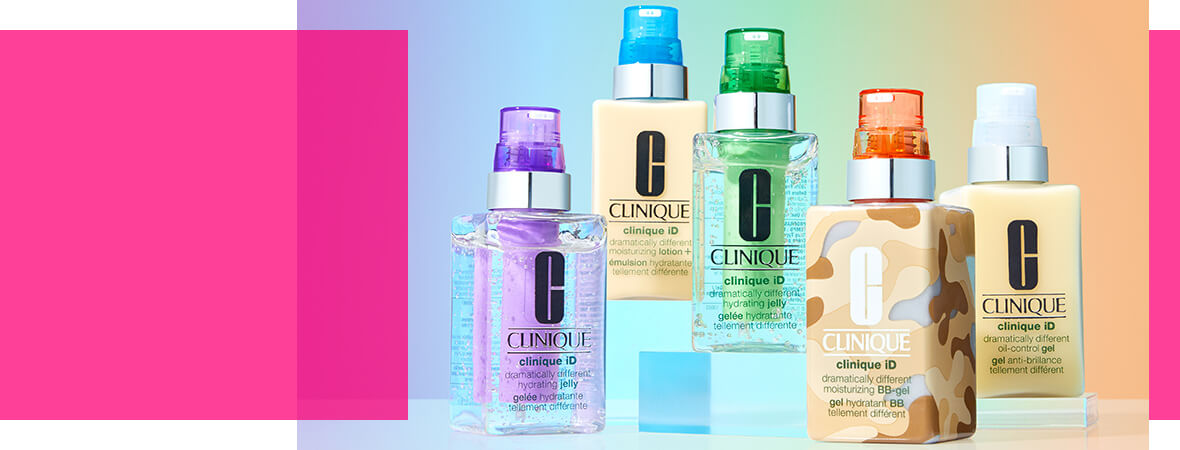 Find your formula with the new Clinique iD transforming BB Gel: customisable beauty designed to hydrate, treat and tint your skin.