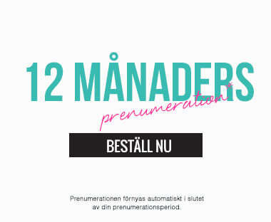 text: 12 månaders abonnemang för Beauty Box