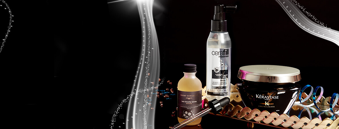 Keep your hair looking full of lustre and life this Holiday Party Season!