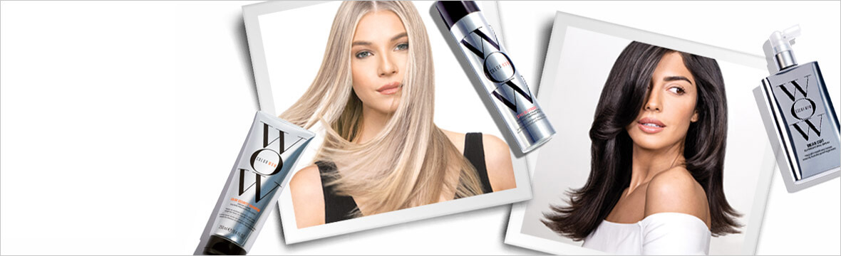 Care for and perfect color-treated hair with Color WOW.