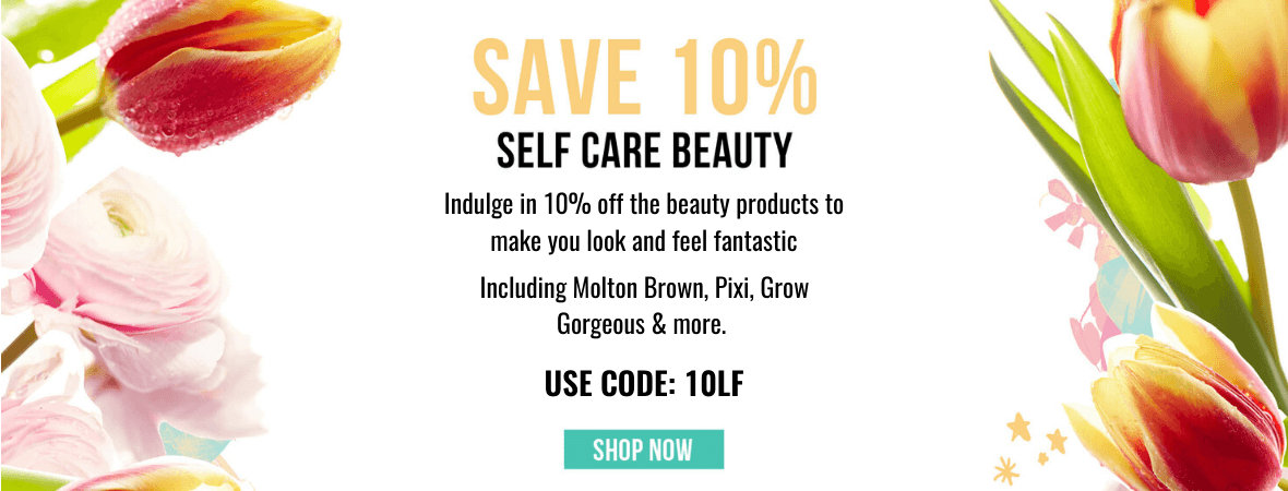 Indulge in 10% off the beauty products to make you look and feel fantastic. Use Code: 10LF