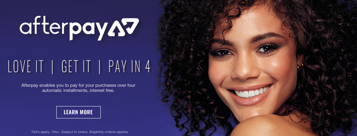 Afterpay enables you to pay for your purchases over four automatic installments, interest free.