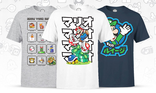 Official Nintendo t-shirts