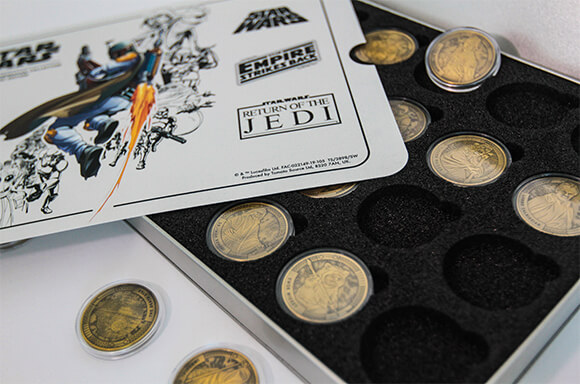 STAR WARS COIN COLLECTORS CASE