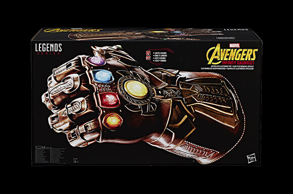 HASBRO MARVEL LEGENDS REPLICA THANOS INFINITY GUANTLET