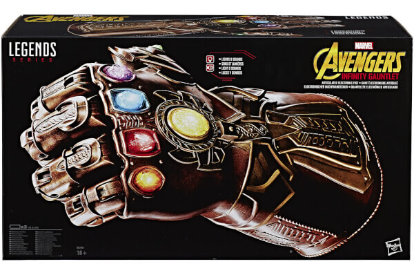 HASBRO AVENGERS INFINITY WAR MARVEL LEGENDS REPLICA THANOS INFINITY GUANTLET