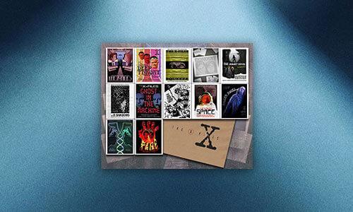X-FILES SEASON ONE SET OF 12 LITHOGRAPH PRINT