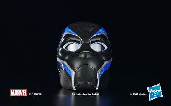 HASBRO MARVEL LEGENDS SERIES BLACK PANTHER 1:1 SCALE WEARABLE ELECTRONIC HELMET
