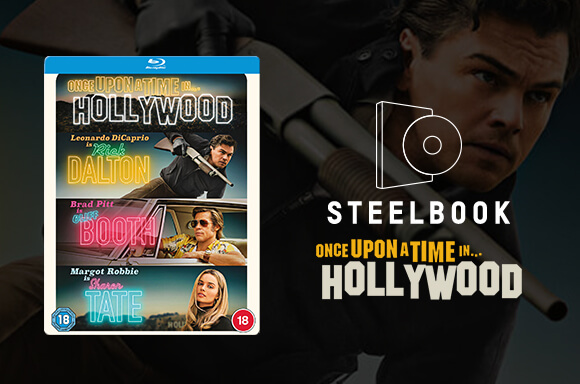 Once Upon A Time In Hollywood Zavvi Exclusive Blu-ray Steelbook