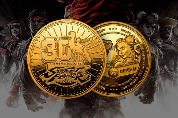 STREET FIGHTER 30TH ANNIVERSARY GOLD COIN