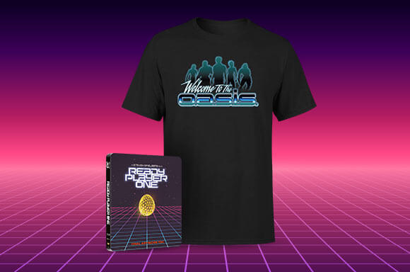 READY PLAYER ONE STEELBOOK & T-SHIRT