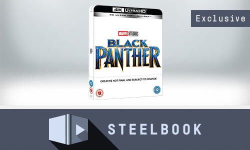 BLACK PANTHER 4K UHD LIMITED EDITION STEELBOOK (INCLUDES 2D VERSION)