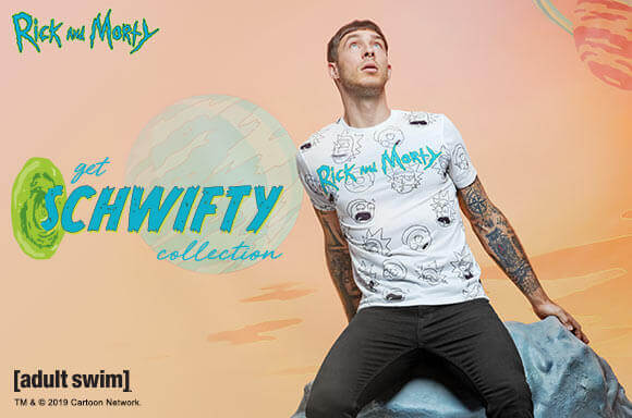 Rick & Morty 30% off + Free delivery on the GET SCHWIFTY collection