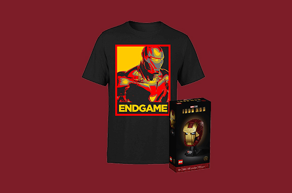 LEGO Iron Man helmet and T-Shirt for just £49.99