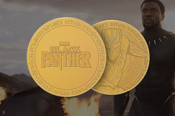 BLACK PANTHER GOLD COLLECTORS COIN