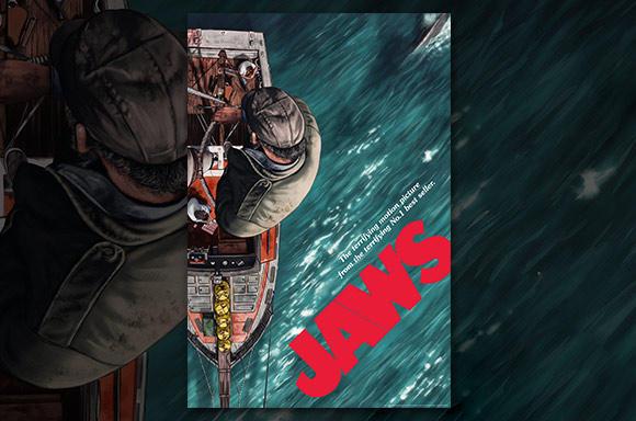 JAWS LIMITED EDITION FINE ART GICLEE