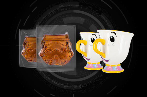 STORMTROOPER GLASS TUMBLERS & CHIP CUPS