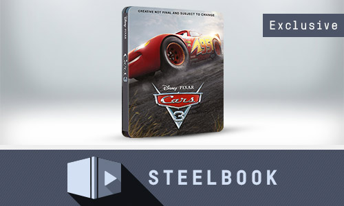 CARS 3 ZAVVI EXCLUSIVE LIMITED EDITION STEELBOOK