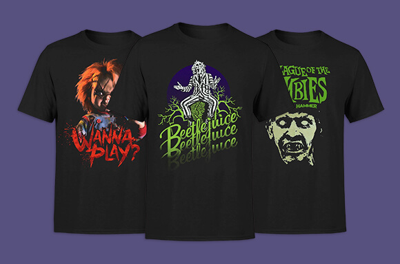 2 for £18 Horror Tees