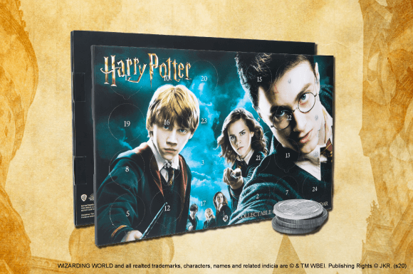 HARRY POTTER & BATMAN COIN CALENDARS