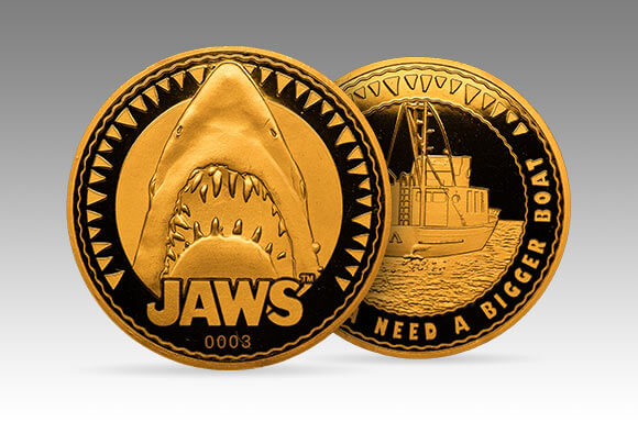 JAWS COLLECTOR'S COIN: GOLD VARIANT