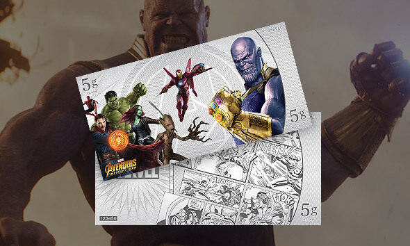 MARVEL AVENGERS: INFINITY WAR SILVER NOTE